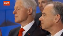Bill Clinton -- Eyelid Inspection During Hillary's Speech (VIDEO + PHOTO)