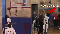 Roy Jones Jr. -- My Kid's A Total Knockout ... On The Hoops Court (VIDEO)
