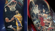 Kobe & Michael Jordan -- INSANE Athlete Tattoos ... From Elite Ink Artist (PHOTO GALLERY)