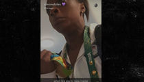 Simone Biles -- Is That The Fire Alarm?! ... Better Grab My Gold!! (VIDEO)