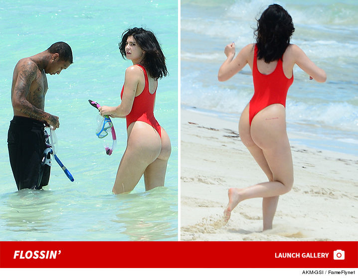 0812-launch-Kylie-Tyga-Turks-Caicos-Red-Thong-famefly-akm