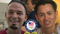 Rapper Paul Wall -- Gold Grillz Giveaway ... To All U.S. Medal Winners!! (PHOTOS)