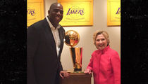 Magic Johnson -- House Party for Hillary Clinton ... With Sam Jackson! (PHOTOS)