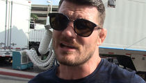 UFC's Michael Bisping -- Double Duty ... Training for Fight on Movie Set (VIDEO)