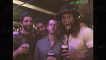 Jason Momoa -- Somethin' Brewin' with 'GoT' Creators (PHOTOS)