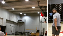 Drake -- Hits Half Court Shot ... From His Back!!! (Video)