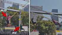 Maurice Jones-Drew & Ike Taylor -- Run 'Ninja Warrior' Course ... Aren't Terrible (VIDEO)