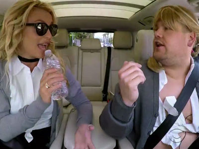 "Britney ACTUALLY SINGS In ""Carpool Karaoke"" -- As Corden Does Drag!"