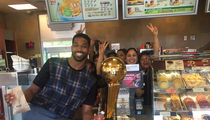 Tristan Thompson -- Canadian Trophy-Off ... At Famous Donut Shop (Photos)