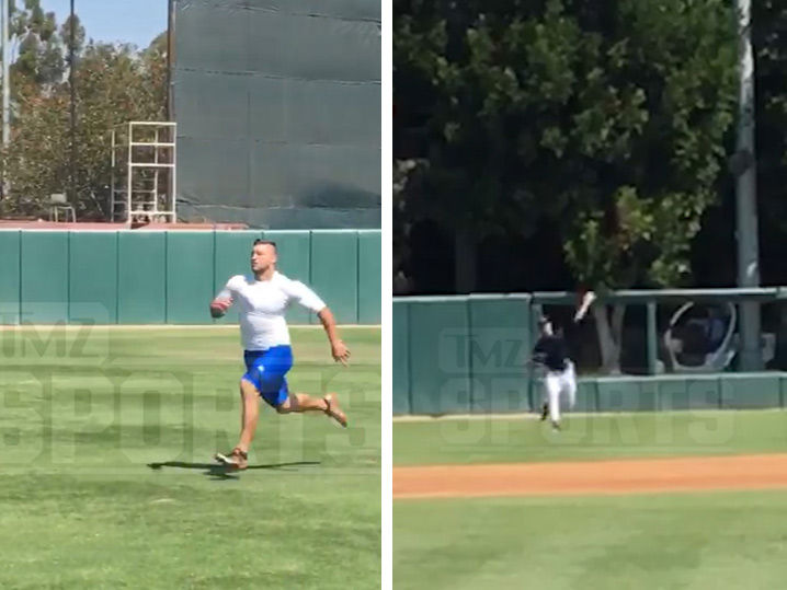 Tim Tebow's Footage From MLB Workout