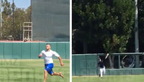 Tim Tebow -- Footage From MLB Workout ... Hustlin'!!