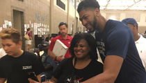 Anthony Davis & N.O. Pelicans -- Hoops, Hugs, And, Hunger Relief ... Visiting Baton Rouge Flood Victims
