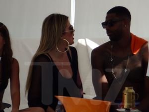 Khloe and Tristan cabana