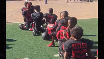 Floyd Mayweather -- Pop Warner Football Team Protests National Anthem