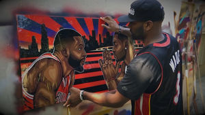 Dwyane Wade -- Ex-Teammate Gifts Dope Custom Art Piece