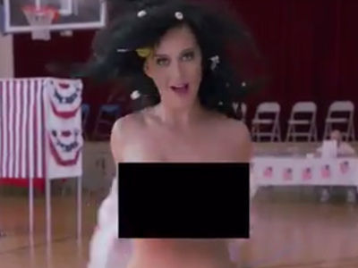 Katy Perry Gets TOTALLY NAKED to Convince You to Vote -- Is This Working?!?
