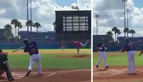 Tim Tebow -- HOME RUN ON FIRST AT BAT ... In Instructional League Game