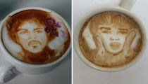 Drink In Instagram's Hottest Celeb-Inspired Latte Art for National Coffee Day