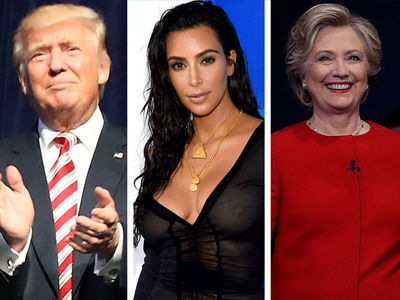 Trump & Clinton Full on FEUDING Over Kim Kardashian Now -- It's Getting Ridiculous!