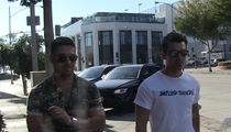 Joe Jonas & Wilmer Valderrama -- Eskimo Brothers ... Make for a Great Carpool