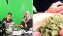 UFC's Nick Diaz -- Smokin' with Snoop ... Look at All that Green! (VIDEO)