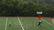 Tom Brady -- Secret Comeback Workout ... Dropping Bombs!!! (VIDEO)