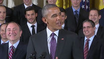 President Obama -- Crackin 'Bad Jokes' ... During Penguins Visit (VIDEO)