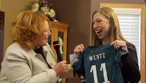 Chelsea Clinton -- I'M ON THE WENTZ WAGON ... Go Eagles! (PHOTO)