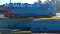 Hillary Clinton Campaign Bus -- Ain't That Some S***! Cops Investigate Street Dump (PHOTOS)