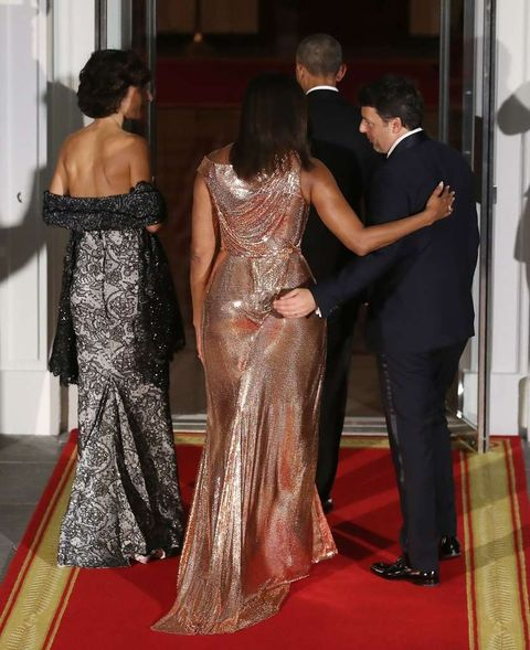 Michelle Obama -- Out with a Bang ... $12k Versace Gown ...