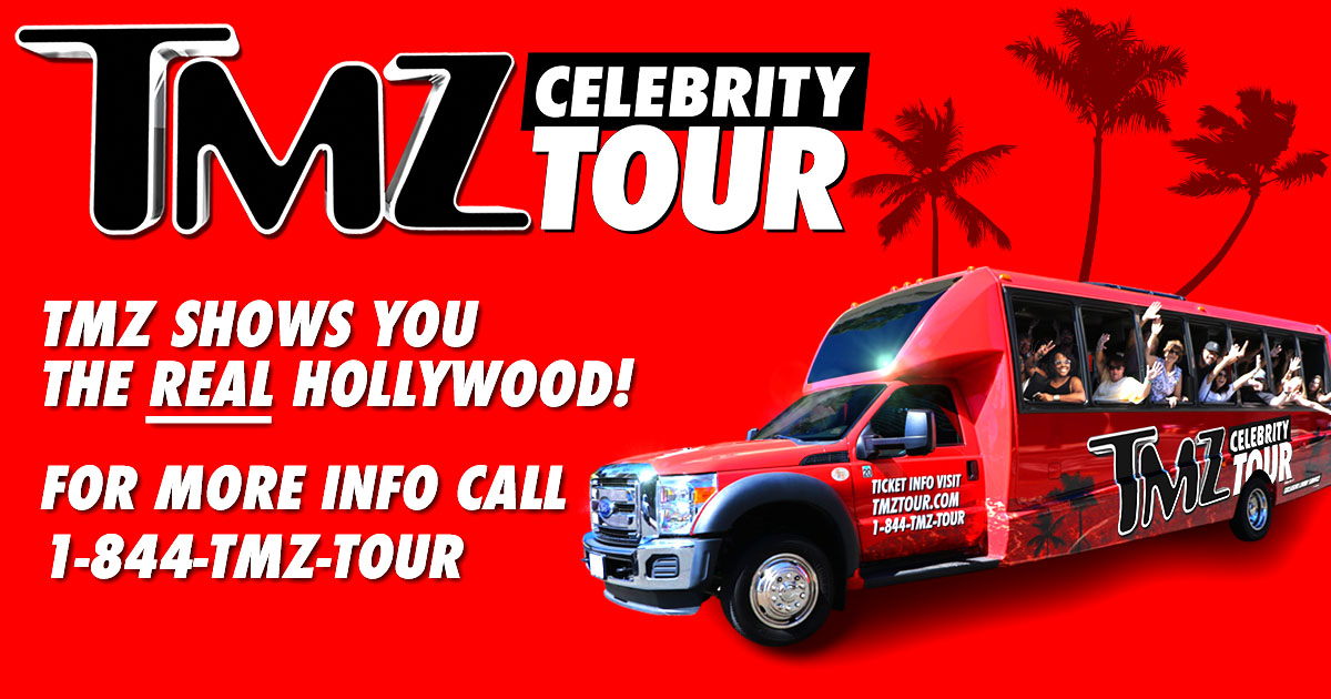 The tmz celebrity tour real hollywood bus tours for Tmz tours in los angeles