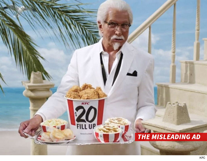 KFC Sued for $20 Mil -- Your Overflowing Bucket of Chicken is a Finger Lickin' Lie (VIDEO)