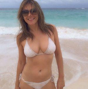 Elizabeth Hurley's Swimsuit Selfies