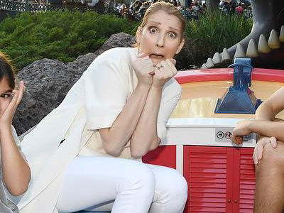 Celine Shares VERY RARE Pic with All 3 Kids -- As They Celebrate Twins' B-Day at Disney!