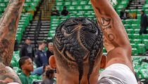 Boston Celtics Player -- BRAIDS HAIR INTO CLOVER ... For Season Opener (PHOTO)