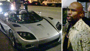Floyd Mayweather -- Brings $11 MILLION Car Fleet ... To L.A. Hot Spot