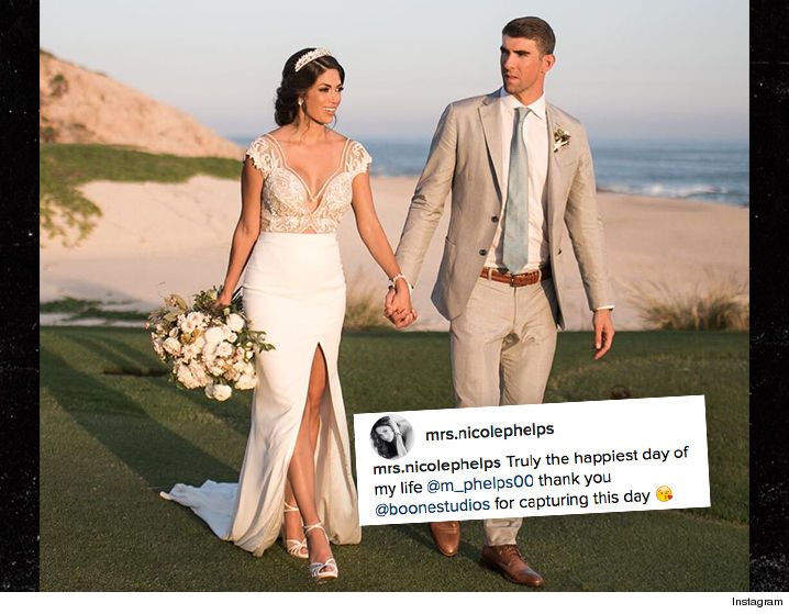 Michael Phelps, Nicole Johnson share wedding photos