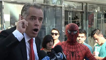 Donald Trump Star Vandal -- Spider-Man Swoops in, Steals His Thunder (VIDEO)