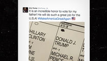 Donald Trump's Son -- Breaking the Law ... Tweets Ballot Pic (PHOTO)