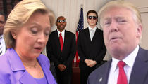 Hillary and Donald -- Hey Loser ... Say Goodbye to Secret Service