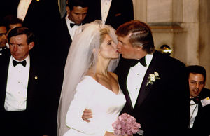 Donald Trump and Marla Maples -- The White Wedding