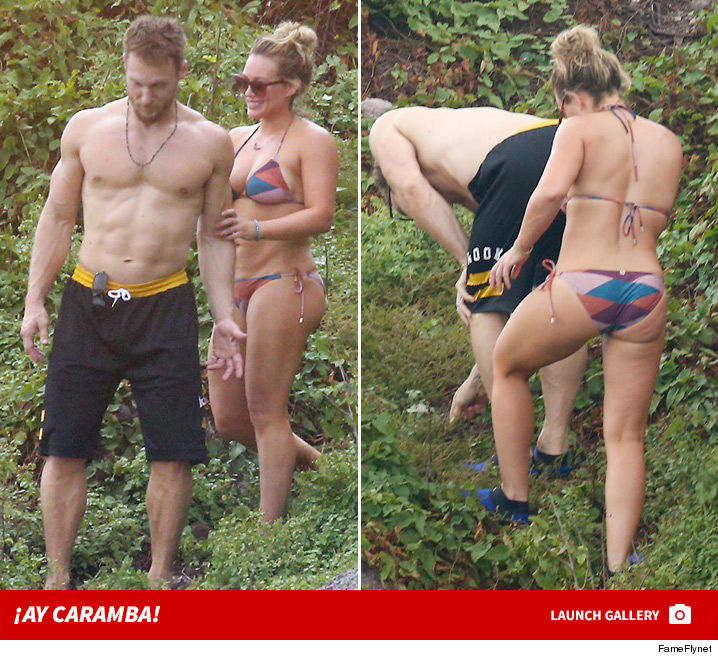 Hilary Duff And Her Bf Did Some Hardcore Beach Combing Down In Mexico With Minimal Clothing Muchas Gracias