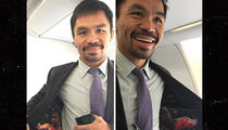 Manny Pacquiao -- I Got Mayweather On My Mind ... And On My Clothes! (PHOTO)