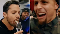 Steph Curry & Drake -- Amazed & Disgusted By David Blaine ... Live Frog Magic Trick