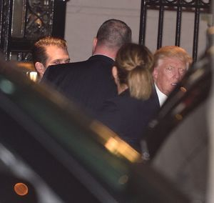 Trump Family at 21 Club -- Chief of Steak!