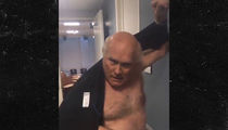 Terry Bradshaw -- No Shirt? No Problem ... Caught Topless Modeling at 'NFL on Fox' Studio (VIDEO)