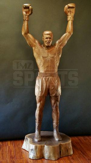 Muhammad Ali Wood Statue -- Greatest of All Pine!