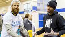 76ers Players & Staff -- Prep 50,000 Thanksgiving Dinners ... At Boys & Girls Club (PHOTO GALLERY)