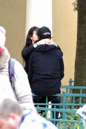 Cristiano Ronaldo -- Undercover Kissing Session ... At Paris Disneyland