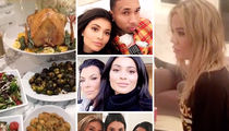 Kardashians, Jenners -- Separate Thanksgivings (PHOTO GALLERY)